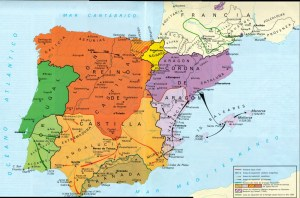 Map -Reconquista siglo XIII