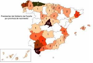 procedencia presidentes España